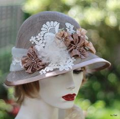 1920s Hat Elegant Hat Gala Event Hat  Hat with by GailsHats