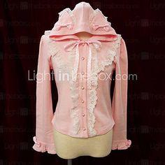Hooded Long Sleeve Cotton Sweet Lolita Blouse