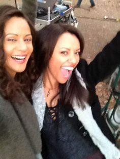 Persia White and Kat Graham (The Bennett Witches)
