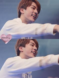 when he smiles, my soul brightens a little <3 thanks bby jin