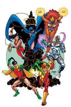 Teen Titans: The New Teen Titans love this comic book Legion Of Superheroes, Arte Dc Comics, Dc Comics Superheroes, Dc Comics Characters, Marvel Comics, The New Teen Titans, Original Teen Titans, Teen Titans Go, Dc Comic Books