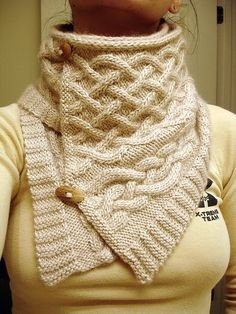 Cabled Cowl  by Olga Buraya-Kefelian. I REALLY need to learn how to knit.