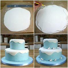 Kuchen für Kindergeburtstag mit Frozen Motto