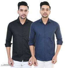 Shirts Designer Men Shirts Fabric: Satin Sleeve Length: Long Sleeves Pattern: Solid Multipack: 2 Sizes: XL (Chest Size: 42 in Length Size: 30 in)  L (Chest Size: 40 in Length Size: 29 in)  M (Chest Size: 38 in Length Size: 28 in) Country of Origin: India Sizes Available: M, L, XL   Catalog Rating: ★4 (438)  Catalog Name: Comfy Men Shirts CatalogID_676188 C70-SC1206 Code: 184-4659910-