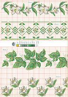 counted cross stitch leaf patterns