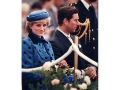 April 30 1986 Diana and Charles attend a Welcoming Ceremony on the front lawn of the British Columbia Legislature Building