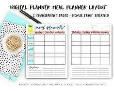 Biggest Mom life hack - digital planning - fully customizable and unbelievably convenient (June & Lucy Digital Planner on Etsy) - weekly meal planner for a digital planner Planner Layout, Planner Pages, Planner Stickers, Packing List Template, Movie Tracker, Weekly Meal Planner, Staying Organized, Digital Prints, Etsy Seller