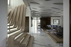 Situé au cœur de Bombay, trois personnes d'une même famille logent dans trois appartements d'un immeuble de 6 étages. Les architectes ont donc effectué sim