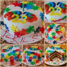 Puzzle birthday cake