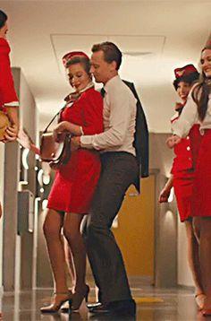 Tom Hiddleston dancing in High-Rise