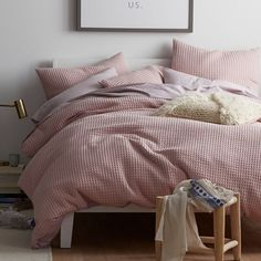 This chunky waffle weave duvet cover brings a dose of relaxed style to your lair. Available with matching shams. Bedroom Bed, Master Bedroom, Bedrooms, Bedroom Ideas, The Company Store, Bed Duvet Covers, Custom Boxes, Comforters, Your Style