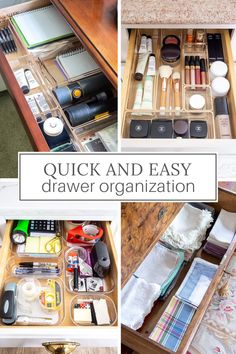 Want to declutter your home? These 5 quick and easy drawer organizer projects can be done in no time to start your day off right.