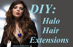 DIY Halo Hair Extensions / Flip-in Hair - by Kristy Jessica
