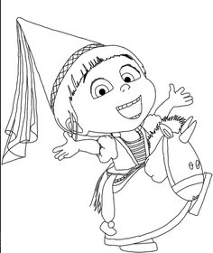 Agnes Despicable Me 2 Coloring For Kids - Despicable Me cartoon coloring pages
