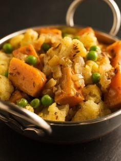 Easy and toddler/Kid Friendly with slightly reduced curry powder. Needed less than 20mins. Sweet Potato Aloo Gobi