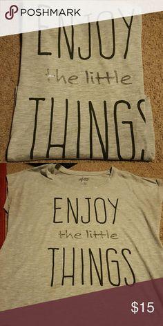 Enjoy the little things tshirts Medium tshirt Style & Co Tops