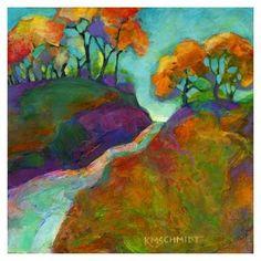 Autumn Surprise by Karen Mathison Schmidt #tree #art