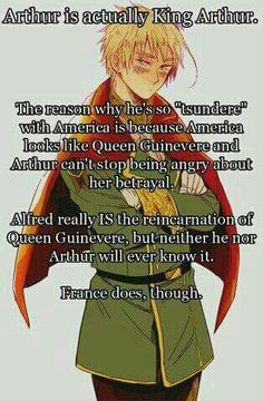 Hetalia England <<<<  I always thought that before they became personifications of a nation, they were once a human being.