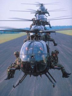 Army Rangers on their way to work.