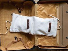 Travel Underwear Bag Natural linen by studiowonjun on Etsy, $38.00