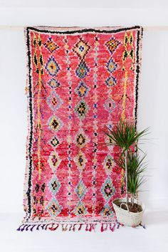 RESERVED // Moroccan Boucherouite Rug The Luna Rag by LoomAndField