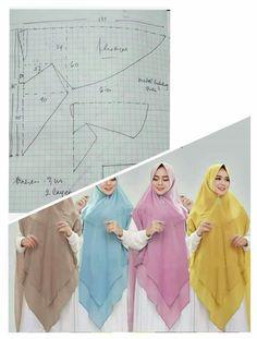 Coat Patterns, Sewing Patterns Free, Clothing Patterns, Clothing Store Displays, Blouse Batik, Hijab Fashion Inspiration, Hijab Tutorial, Abaya Fashion, Fashion Sewing