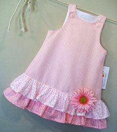 Cotton Candies Stripe Childrens Pink ALine Girls by sugarch This Pin was discovered by Ira Imagem relacionada by melody Frocks For Girls, Kids Frocks, Little Girl Dresses, Girls Dresses, Baby Girl Dress Patterns, Skirt Patterns, Coat Patterns, Blouse Patterns, Sewing Patterns