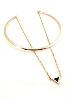 New Arrivals // Put your choker off the chain with this wonderful gold double-layered choker necklace.