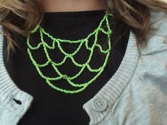 Make a Green Beaded Tier Necklace