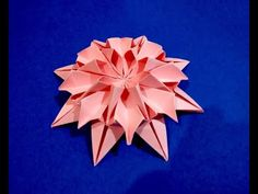 Easy and rich paper flower. DIY Easter decor. Awesome mandala. Bright piece for room decoration - YouTube Origami Flowers Instructions, Paper Flower Tutorial, Origami Tutorial, Paper Origami Flowers, Origami Rose, Origami Flower Bouquet, Origami Blume, Origami Stars, 3d Origami