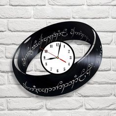 Lord Of The Ring design vinyl record clock home decor art gift club playroom