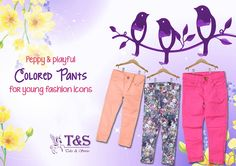 Peppy & #playful colored #pants for young #fashion icons... #Shop #Kidswear >>>  http://www.talesandstories.com/