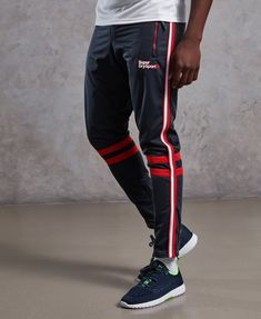 Mens - Training Tricot Track Pants in Tricolore Track Pants Mens, Track Suit Men, Sport Logos, Mens Sweatpants, Sweatpants Outfit, Sports Trousers, Mens Activewear, Sporty Outfits, Gym Wear