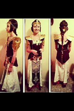 Head to toe Princess Zelda costume made from scratch with pillowcases and my sewing machine by Aizon herself, accessories are painted foam and moulded baking clay :) Princess Zelda Costume, Baking Clay, Head To Toe, Pillowcases, Daughter, Costumes, Sewing, Accessories, Art