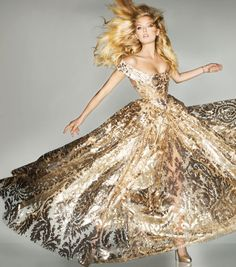 #Vogue British - The Midas Touch (Olympic) by Knick Knight #Lily Donaldson