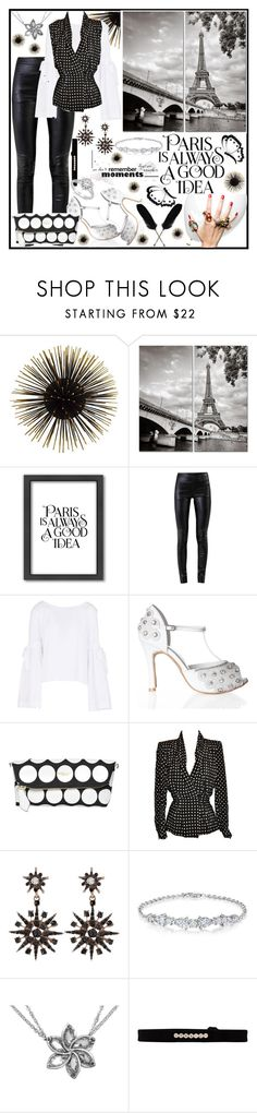 """""""Black and White"""" by jeneric2015 ❤ liked on Polyvore featuring Americanflat, Helmut Lang, Free People, Burberry, Givenchy, EF Collection and Disney"""