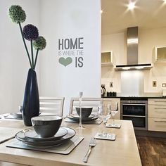 $19.95  - Home Is Where The Heart Is  Small  Quote Stencil ** For more information, visit image link. (This is an affiliate link) #WallStickersMurals