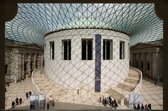British Museum Courtyard framed