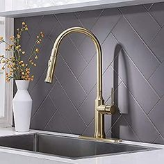 pull down sink and faucet
