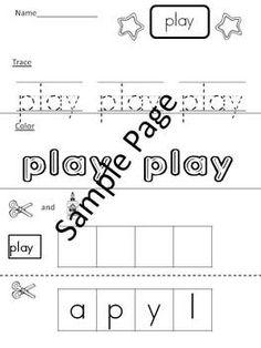 Read, Trace, Color, Unscramble, Cut, and Glue 43 Pre Primer Dolch Sight Words...