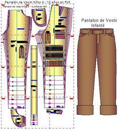 Plantillas Digitales de Pantalón de Vestir Infantil en formato pdf para imprimir en tu impresora personal. Los moldes incluyen las tallas de niños de 5 a 12 años de edad de las 8 tallas: 5, 6, 7 , …