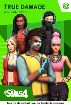 """trnhtm: """" True Damage Mini Fan Pack for The Sims 4 The long awaited True Damage pack is finally here! mygoddd i thought this took all year long """"Disclaimer: I made this mini mod pack to dabble myself. Sims 4 Mods, Sims 4 Game Mods, Sims 4 Mm Cc, My Sims, Die Sims 4 Packs, Sims 4 Hair Male, Sims 4 Traits, Bobbi Brown, Pelo Sims"""