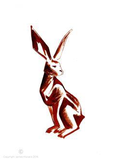 Sepia Hare - A4 Limited Edition Print | DegreeArt.com The Original Online Art Gallery
