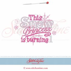 6108 Sayings : This Snow Princess Is...Applique 5x7