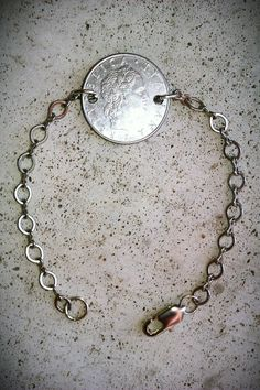 Vintage Italian Lira silver Foreign coin jewelry by bleustuff1, $6.99