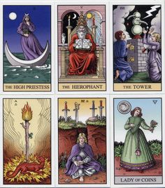 Alchemical Tarot Deck: Completely unrelated to the Rider Waite Smith deck-but hey...if it speaks to you...Cool graphics on this deck.