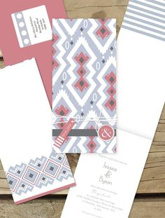 tribal wedding invitation, lilykiss