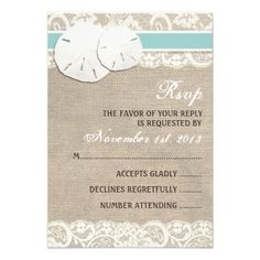 Beach Rustic Burlap Lace RSVP Card How toOnline Secure Check out Quick and Easy...