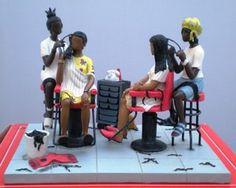 Extensions Figurine by Annie Lee. African American Figurines, African American Art, African Art, Black Art Painting, Black Artwork, Black Girl Art, Black Women Art, Thomas Blackshear, Lee Thomas
