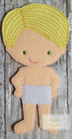 Felt Un Paper Wilson Doll by NettiesNeedlesToo on Etsy, $6.00